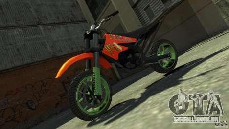 Stunt Supermotard Sanchez para GTA 4 vista direita