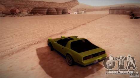 Pontiac Firebird Trans Am para GTA San Andreas esquerda vista