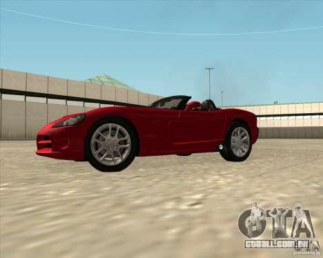 Dodge Viper SRT-10 Roadster para GTA San Andreas vista direita