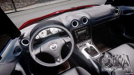 Mazda MX-5 Miata para GTA 4 vista de volta