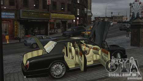 Bentley Arnage T v 2.0 para GTA 4 vista inferior