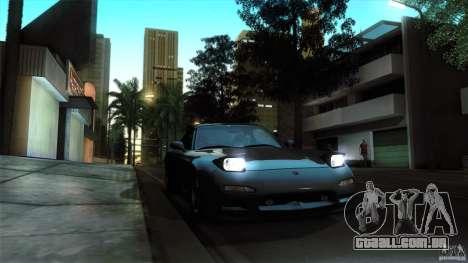 Mazda RX-7 FD 1991 para GTA San Andreas vista traseira