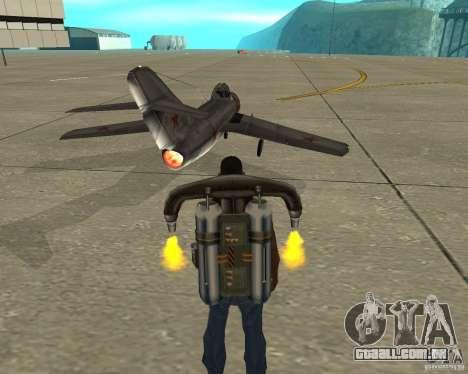 MIG 15 URSS para GTA San Andreas traseira esquerda vista