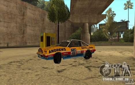Opel Manta 400 para GTA San Andreas vista traseira