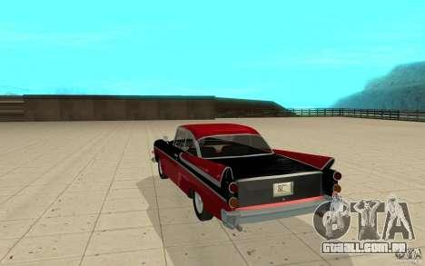 Dodge Lancer 1957 para GTA San Andreas traseira esquerda vista