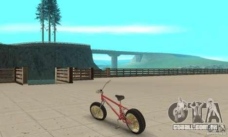 BMX Long 2 para GTA San Andreas traseira esquerda vista