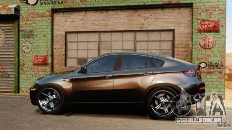 BMW X6 M 2010 para GTA 4 esquerda vista