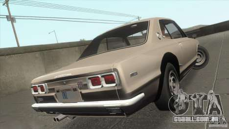 Nissan Skyline 2000 GT-R Coupe para GTA San Andreas vista inferior