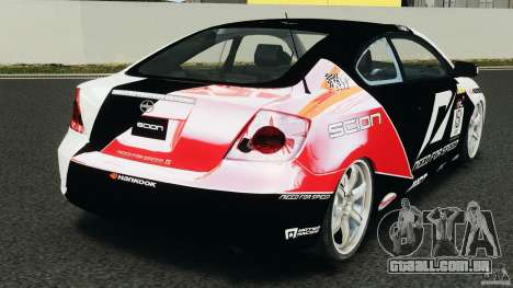 Scion TC Fredric Aasbo Team NFS para GTA 4 traseira esquerda vista