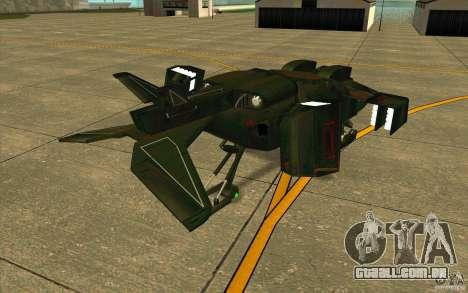 Aliens vs. Predator Marine Drobship para GTA San Andreas vista direita