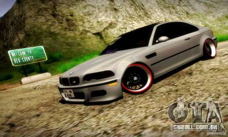 BMW M3 JDM Tuning para vista lateral GTA San Andreas