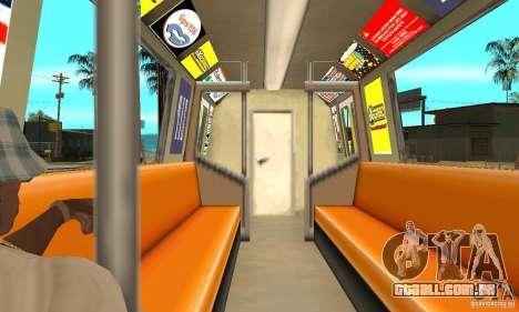 Liberty City Train Italian para GTA San Andreas vista direita