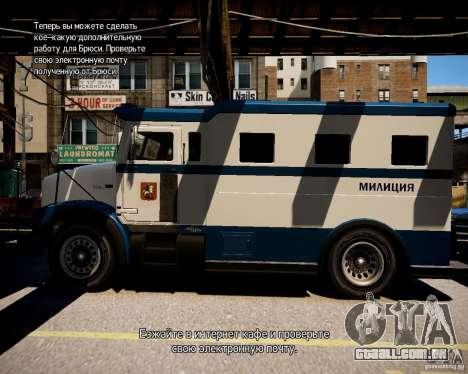 Russian Police Stockade para GTA 4 esquerda vista