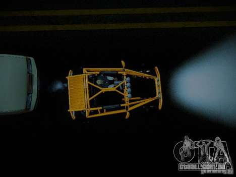 Buggy From Crash Rime 2 para GTA San Andreas vista traseira