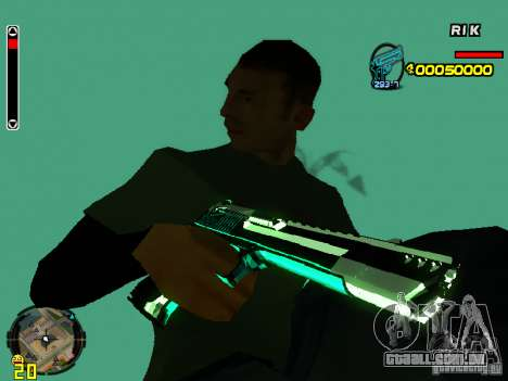 Blue weapons pack para GTA San Andreas quinto tela