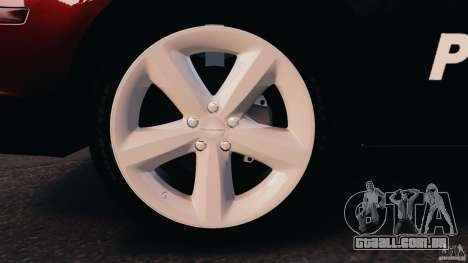 Dodge Charger RT Max Police 2011 [ELS] para GTA 4 esquerda vista