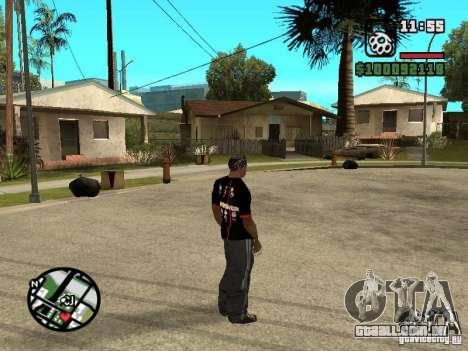 Rammstein t-shirt v3 para GTA San Andreas terceira tela