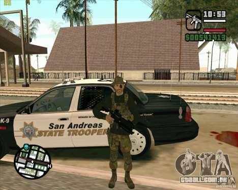 Praice pele de COD 4 para GTA San Andreas por diante tela