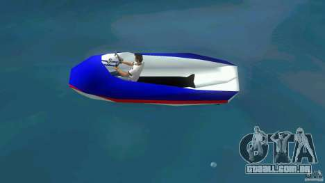 Speedboat dinghy para GTA Vice City deixou vista