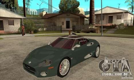 Spyker C8 Laviolete para GTA San Andreas