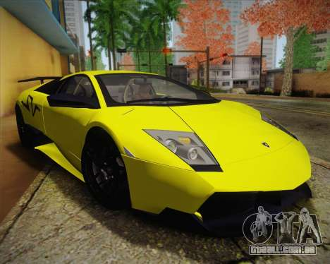 Lamborghini Murcielago LP 670/4 SV Fixed Version para GTA San Andreas vista direita