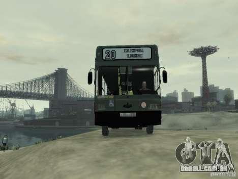 MAZ 103 ônibus para GTA 4 vista de volta