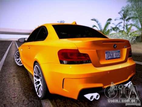 BMW 1M E82 Coupe para GTA San Andreas vista direita