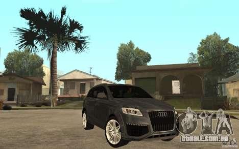 Audi Q7 TDI 2009 para GTA San Andreas vista traseira