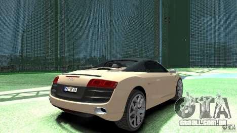 Audi R8 Spyder v10 [EPM] para GTA 4 traseira esquerda vista