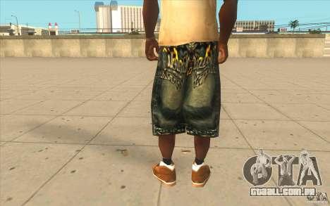 The BIG Makaveli Short Jeans para GTA San Andreas terceira tela