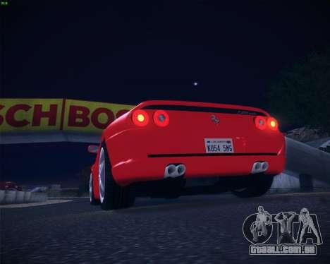 Ferrari F355 Spyder para GTA San Andreas vista traseira
