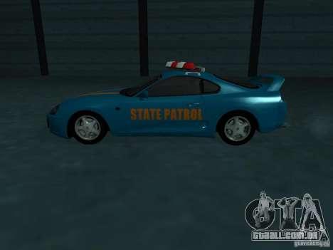 Toyota Supra California State Patrol para GTA San Andreas vista superior