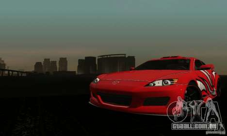 Mazda RX-8 Tuneable para GTA San Andreas vista interior