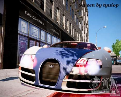 Bugatti Veryon SS COP para GTA 4 traseira esquerda vista