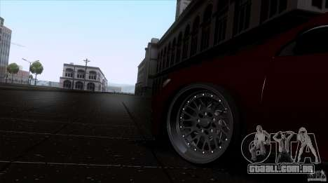 Volkswagen Sirocco para GTA San Andreas vista direita