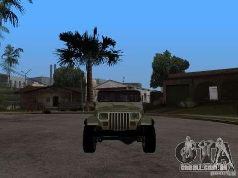 Jeep Wrangler 1986 4.0 Fury v.3.0 para GTA San Andreas vista direita