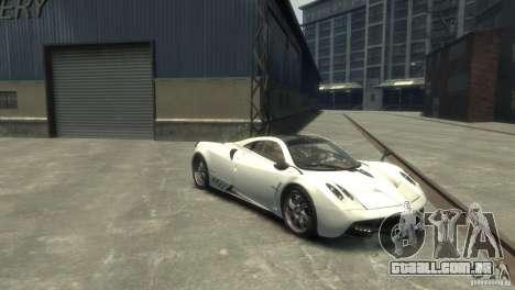 Pagani Huayra para GTA 4 traseira esquerda vista