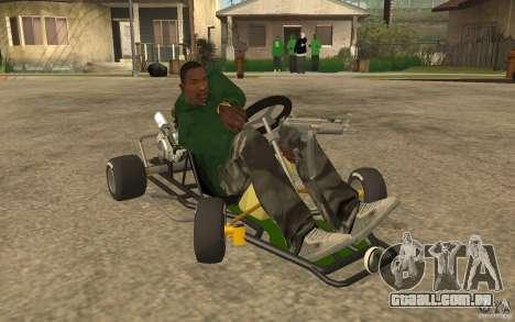 Hayabusa Kart para GTA San Andreas vista traseira