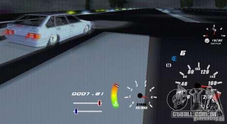 Um velocímetro original para GTA San Andreas por diante tela