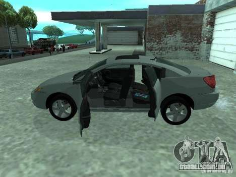 Saturn Ion Quad Coupe 2004 para GTA San Andreas vista interior