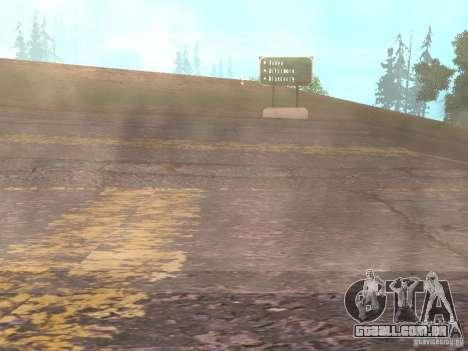 Novas estradas em Vajnvude para GTA San Andreas sétima tela