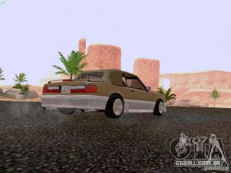 Ford Mustang GT 5.0 Convertible 1987 para GTA San Andreas vista direita