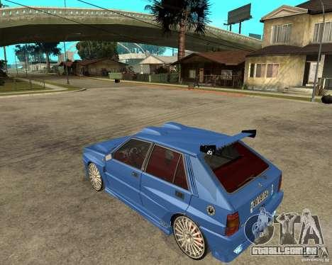 Lancia Delta Sparco para GTA San Andreas esquerda vista