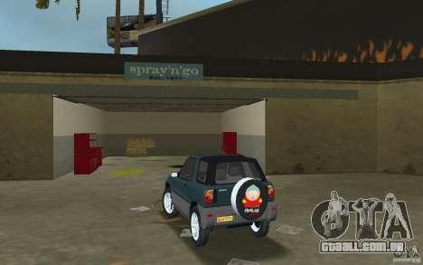 Toyota RAV4 para GTA Vice City vista traseira esquerda