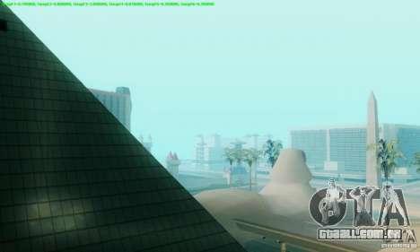 Marty McFly ENB 2.0 California Sun para GTA San Andreas por diante tela