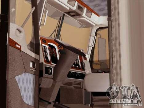Kenworth T800 para GTA San Andreas vista interior