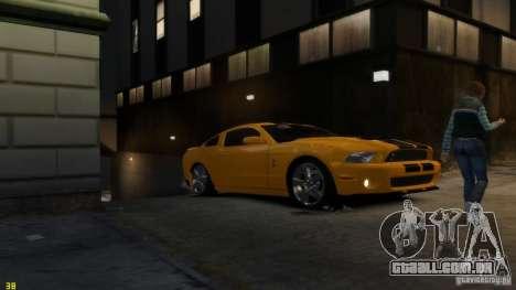 Ford Shelby Mustang GT500 2011 v2.0 para GTA 4 motor