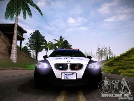 BMW M5 E60 Police para GTA San Andreas vista direita