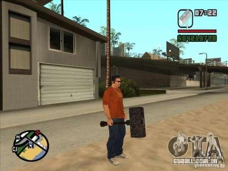 Martelo do WarCraft III para GTA San Andreas segunda tela