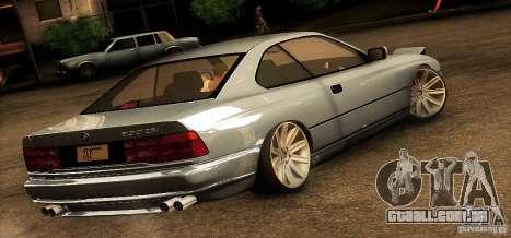 BMW 850 CSI para GTA San Andreas traseira esquerda vista